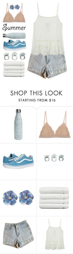 """""""Emily"""" by brie-the-pixie ❤ liked on Polyvore featuring S'well, Cosabella, Vans, Linum Home Textiles, American Apparel, diverse, contestentry, summer2017 and teammannequin"""