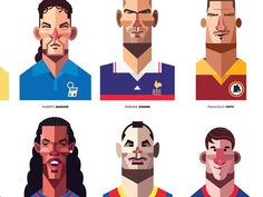 illustrations for each of the MX players, each one having their own personalities come to life. Envisioning these as we would introduce the starting XI.