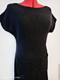 """Вязаное платье """" Мелодика"""" - черный,однотонный,платье,элегантное платье"""