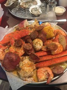 I Love Food, Good Food, Yummy Food, Seafood Dinner, Seafood Boil, Seafood Recipes, Cooking Recipes, Sleepover Food, Boiled Food