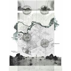 THE FORGOTTEN WORLD grey backed inset on white paper; graphite type blur and paper textures. Natural Forms bleed beyond the edges of the expected map boundary: use of pictures//layered Architecture Mapping, Architecture Panel, Architecture Graphics, Architecture Drawings, Layered Architecture, Site Analysis Architecture, University Architecture, Architecture Diagrams, Landscape And Urbanism