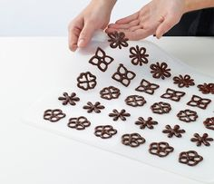 Decorating a gourmet masterpiece has never been easier than with this inventive stencil kit. The included templates make creating elaborate chocolate decorations as simpl. Chocolate Shapes, Chocolate Bomb, Chocolate Art, Chocolate Recipes, Chocolate Designs, Cake Icing, Cupcake Cakes, Chocolate Garnishes, Chocolate Strawberries