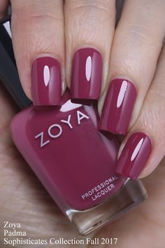 Grape Fizz Nails Blog - Padma is a stunning berry cream with a hint of mauve undertones.  A great formula, 2 coats