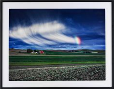 """""""Palouse Rainbow"""" by artist Steve Mills. This is a limited edition photography series. Available at VALOR American Home."""