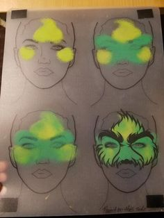 Grinch Christmas Party, Grinch Party, Christmas Crafts, Face Painting Tutorials, Face Painting Designs, Face Painting For Boys, Body Painting, Grinch Costumes, Christmas Costumes
