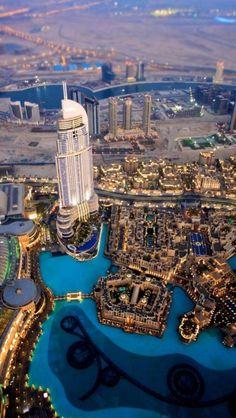 ༺♥༻  BEAUTIFUL . PLACES ༺♥༻  **Evening Dubai, United Arab Emirates**