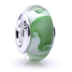 Silver and Murano Green Flowers Glass  Beads  Fit pandora,trollbeads,chamilia,biagi and any customized bracelet/necklaces. #Jewelry #Fashion #Silver# handcraft #DIY #Accessory