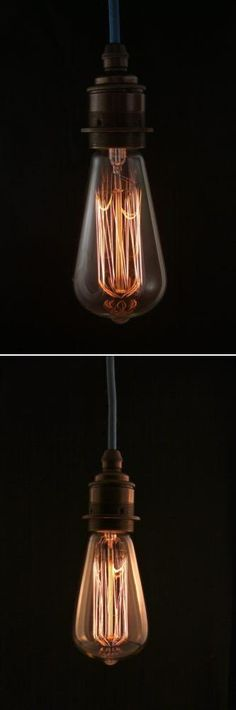 Edison bulbs are all the rage! Leave the shade off for a brilliant industrial look.
