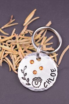 Your magical pet will love wearing this unique crystal tag. This original design is handcrafted at The Dancing Hound's studio. The wizard-worthy tag is perfect for both cats and dogs! Each tag is handmade to order just for you. Cat Tags, Pet Id Tags, Just In Case, Just For You, Custom Dog Tags, Jewelry Polishing Cloth, Unique Animals, Cat Collars, Pet Names