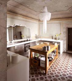 Palazzo Orlandi in Tuscany by b-arch architecture Küchen Design, Floor Design, House Design, Design Ideas, Palazzo, Apartment Kitchen, Kitchen Interior, Casa Milano, Cozy Furniture
