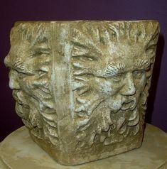 Green Man Vase Sculpture Home Garden Urn Art by ArtofHistory