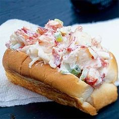 This is the classic New England lobster roll: a basic hot dog bun filled with lobster salad. There are no fancy seasonings here; the lobster is showcased in a simple mayonnaise dressing. This salad is also great over greens for a main dish.