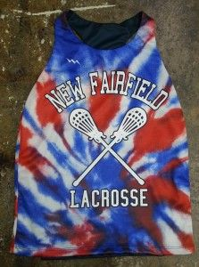 Girls lacrosse pinnies made to order in any design pattern or color.