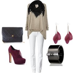 """""""Beige / Maroon"""" by smiillee22 on Polyvore"""