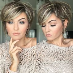 Mess short hair styles for women pixie cuts trendy hairstyles and colors 2019 short hairstyles – Artofit Short Hair With Layers, Short Hair Cuts For Women, Medium Hair Styles, Curly Hair Styles, Hair Color And Cut, Hair Highlights, Pixie Cut With Highlights, Great Hair, Hair Today