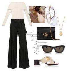 #77 by fashionwonderer on Polyvore featuring moda, A.F. Vandevorst, Chloé, Gucci, Aurélie Bidermann and CÉLINE