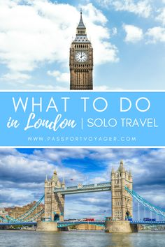 Travelling to London alone? Make sure you look at some of these unique budget-friendly ways to enjoy the city as a solo traveler in this guide of 10 things to do in London on your own! Solo Travel Tips, Europe Travel Tips, European Travel, Travel Guides, Travel Uk, Travel England, Travel Hacks, Travel Packing, Sightseeing London