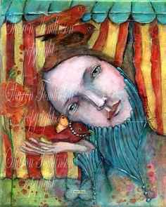 My Love - Fine Art Print of Mixed Media by Sharon Tomlinson