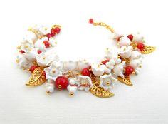 #Christmas #Jewelry Christmas #Bracelet #Flower by insoujewelry