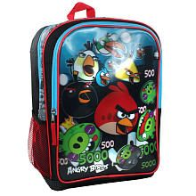 Angry Birds Boy's Backpack - Black with Red and Blue Trim