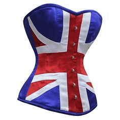 MY-161 - Union Jack Steel Boned Corset Corsets - corsets-uk.com    The EXACT corset I was looking for, wouldn't even have to paint on the Union Jack! OMG