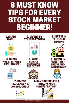 8 Must know tips for every stock market beginner! : Must know tips for every stock market beginner! Learn the basics of how to invest in share market. Define your investment goals, get the documents ready, PAN Card, Aadhar card. Stock Market Basics, Stock Market For Beginners, Stock Market Quotes, Stock Quotes, Stock Market Investing, Investing In Stocks, Investing Money, Investment Quotes, Investment Tips