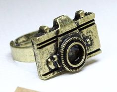 vintage style camera adjustable ring by Sevinoma on Etsy, $2.50