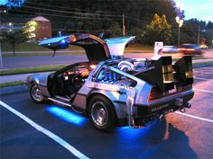De Lorean. The Time machine from Back to The Future movie , 1985.