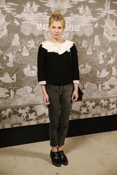 """Clémence Poésy attends""""Mademoiselle Privé"""" exhibition, a journey through the origins of CHANEL creations capturing the charismatic personality and irreverent spirit of Mademoiselle Chanel.    London - Oct. 12, 2015"""