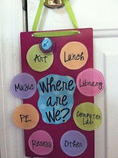 Cute sign for your classroom door.