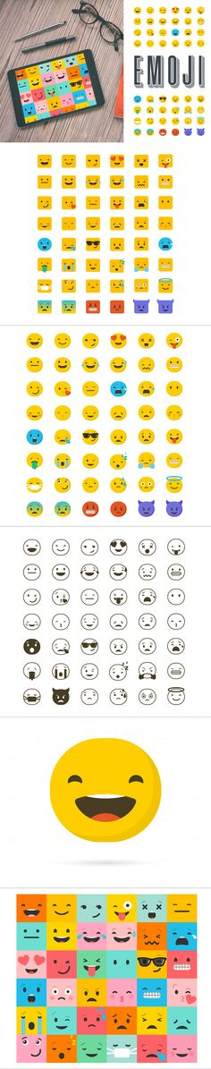 I love this #Emoji / #emoticons bundle of #icons
