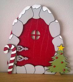 Magical Elf door , Christmas Fairy Door , Magic door , Fairy Door , Santa Door