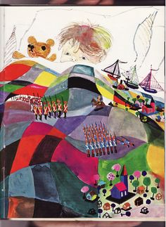 Brian Quilt of colour by Brian Wildsmith by A Child's Garden of Verses