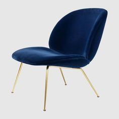 Beetle Lounge Chair Green Velvet & Brass - Sofas & Armchairs - Furniture - Furniture & Lighting - The Conran Shop Canapé Design, Deco Design, Chair Design, Table And Chairs, Dining Chairs, Lounge Chairs, Easy Chairs, Office Chairs, Beetle Chair