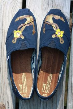 Nautical Anchor TOMS - hand painted