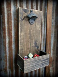 Beer Bottle Opener and Cap Catcher | Man Cave Ideas | 19 DIY Decor And Furniture Projects