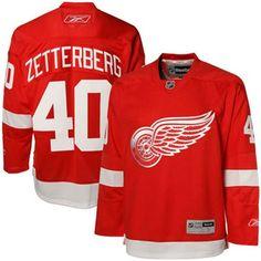 Reebok Henrik Zetterberg Detroit Red Wings Premier Jersey - Red