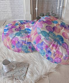 Look at this Dash And Ash In A Dream Round Floor Pillow on #zulily today!