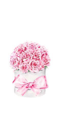 Birthday, Valentines, Boyfriend and Girlfriend Flower Frame, Flower Art, Art Flowers, Pink Wallpaper, Iphone Wallpaper, Watercolor Flowers, Watercolor Art, Chanel Art, Valentines Flowers