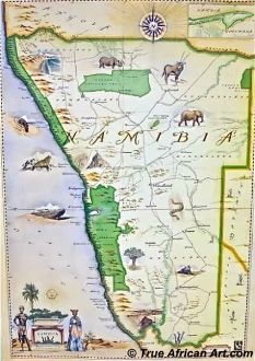 Map of Namibia with farm divisions, 1966 #map #namibia | hărți