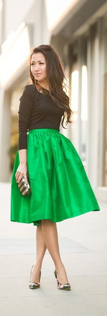 my office staple this summer...this skirt in several prints, fun heel, cap sleeve tee and statement necklace...
