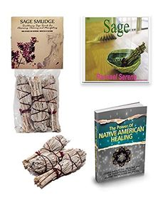 Sage Smudge Sticks- E Book Twin Set 'Smudging Sage' Shows How Sacred Sage Is Used to Cleanse, Uplift, Manifest & Meditate & 'The Power of Native American Healing'. Grown in the USA. 30 Day Money Back Guarantee Pearl Consultancy Lifestyle http://www.amazon.com/dp/B00RGLNGDY/ref=cm_sw_r_pi_dp_XFNexb1SEH15D