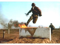 Polish People's Army combat training course.