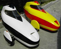 Leitras, type of Velomobile or Enclosed Tricycle.