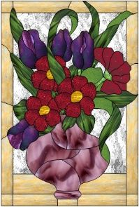 Window Flowers Pattern - Free Stained Glass Patterns