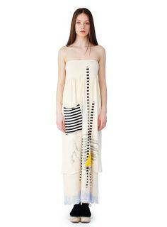 Μακρύ Φόρεμα με απλικέ και ζωγραφική στο χέρι