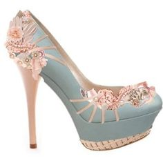 """""""Blush"""" by Silver Doe... I have no special events that would call for shoes this pretty... but ehmehgoodness."""