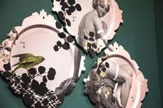 Trityque du Parc set of 3 trays by ibride. #tray #artwork #design #home #decoration #ibride #wall #statue