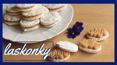 Laskonky s karamelovým krémem No Bake Cake, Christmas Cookies, Cooking Recipes, Sweets, Breakfast, Youtube, Bakken, Essen, Xmas Cookies