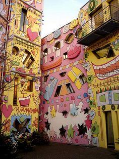 89dbc1addb5fc Pop-Art Happy Rizzi House - Germany Pintura Quadro, Cidade, Quadros,